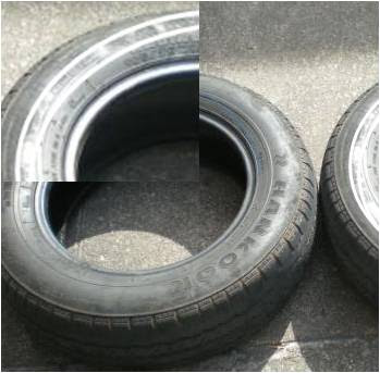 Pneus usados precisam estar limpos para receber a massa de calafetar e, depois, a veda calha, para posterior colagem no tapete ou outro pneu - Cisterna ecológica em lavouras