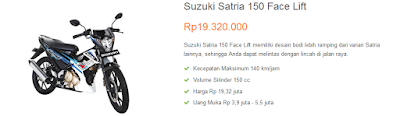 Suzuki Satria 150 Face Lift