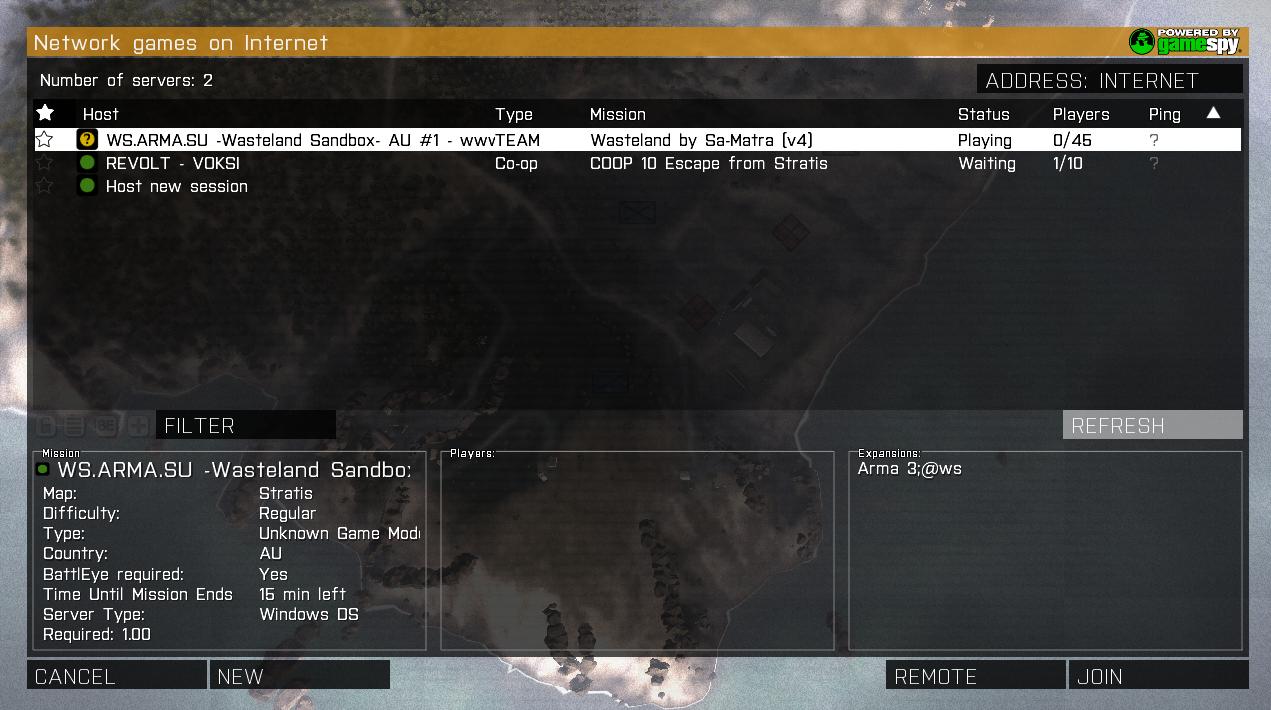 arma 3 cracked server list