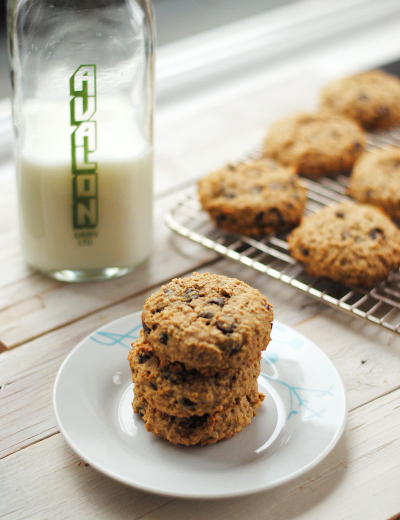 Leanne bakes low fat oatmeal chocolate chip cookies for Low fat chocolate biscuits