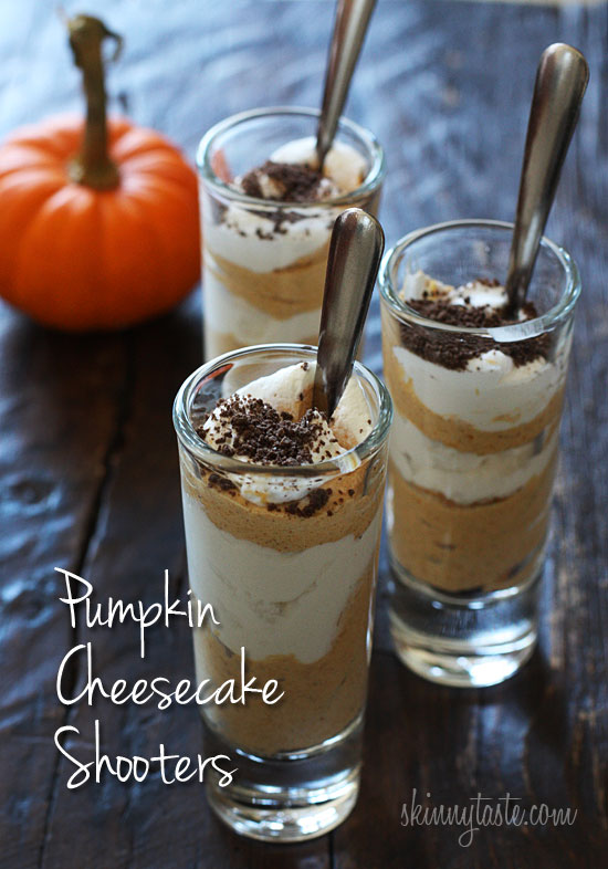 "you need a ""little"" treat, these delicious pumpkin cheesecake shoot..."