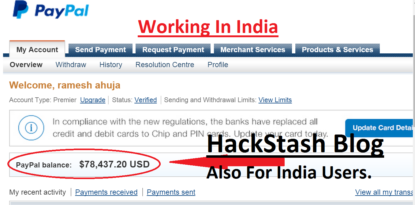 how to hack add money to paypal account