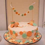 Cute as a Button Cake