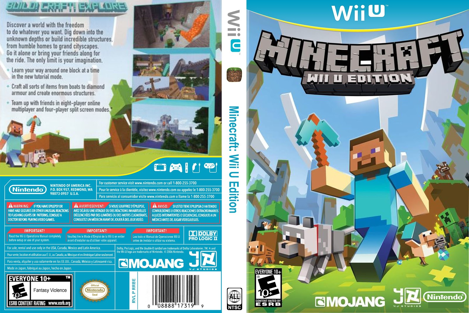 Capa Minecraft Wii U Edition