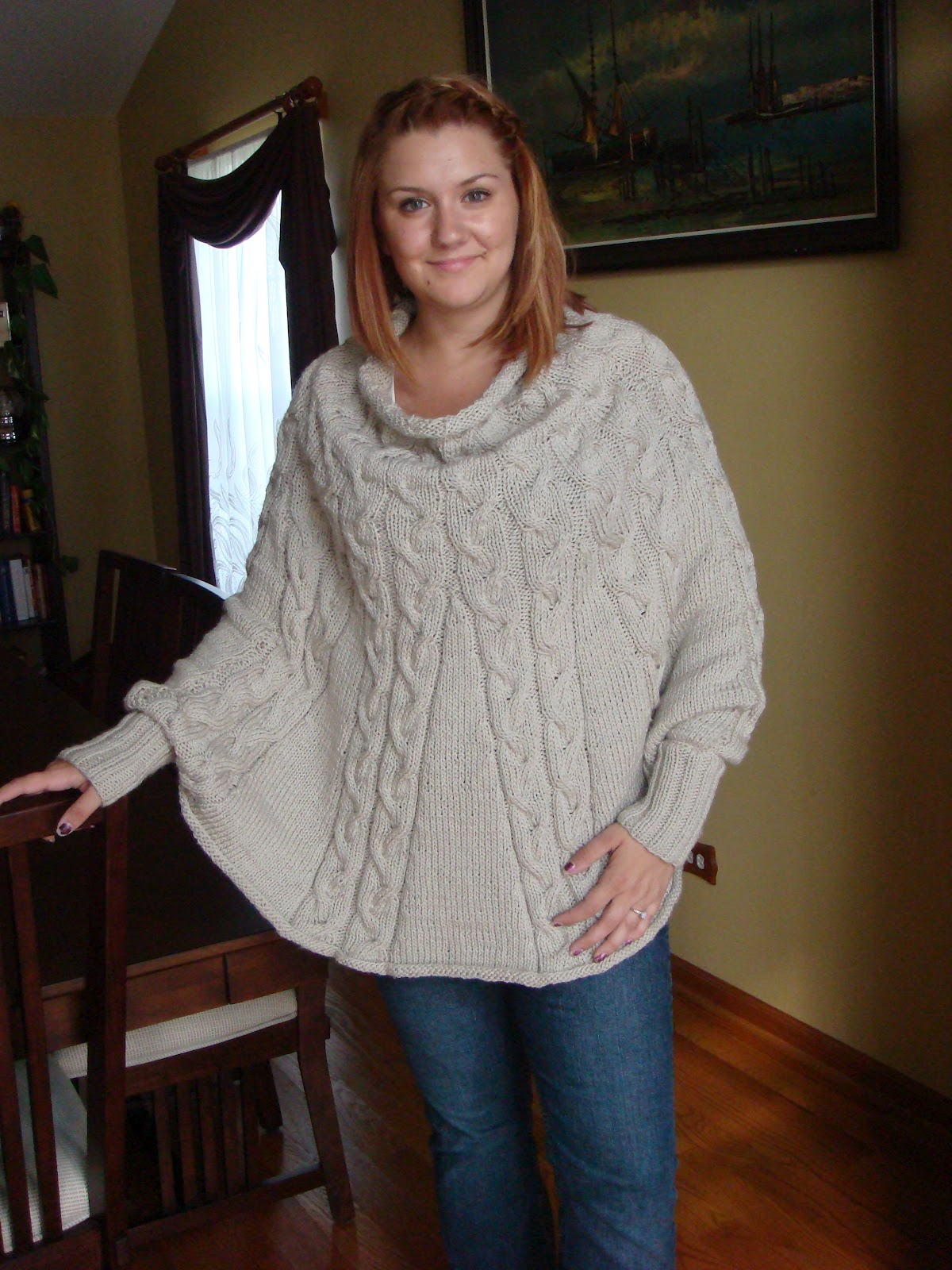 Knitting Pattern For Poncho With Sleeves : Joy of Knitting