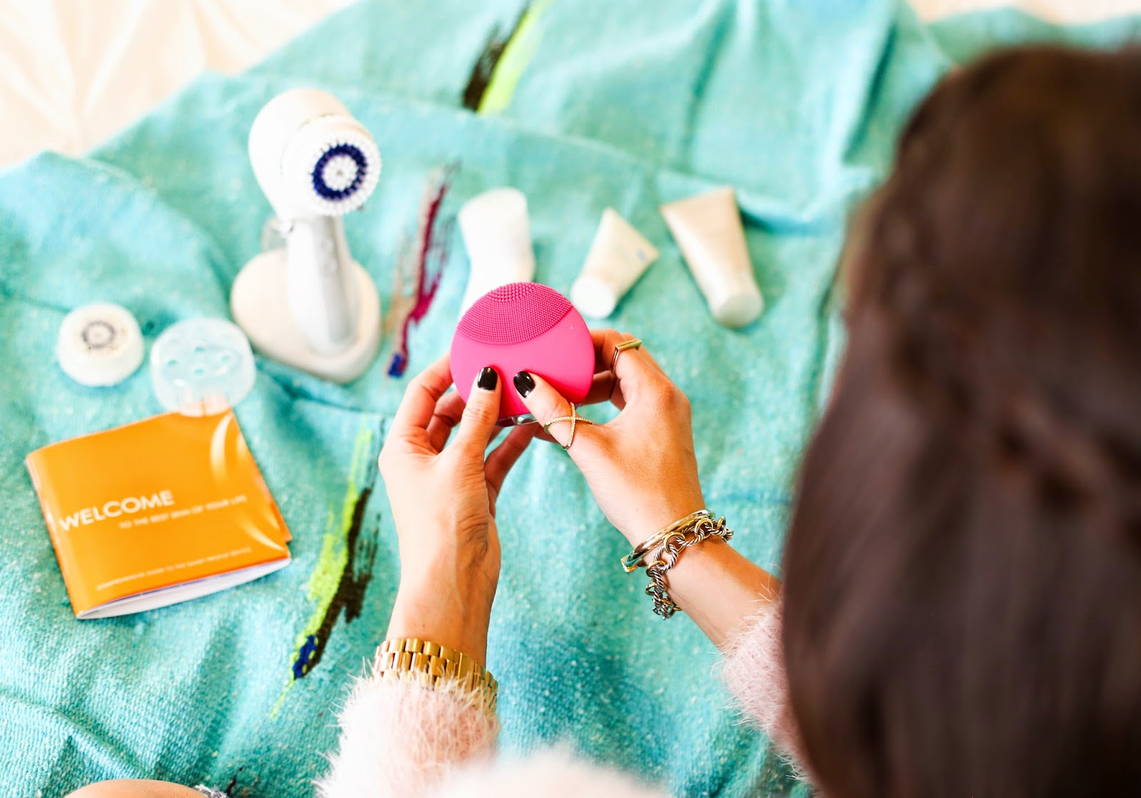 clinique sonic cleansing brush, clarisonic smart profile review, emily gemma blog, the sweetest thing blog, emily gemma skincare, foreo luna mini, foreo luna mini review