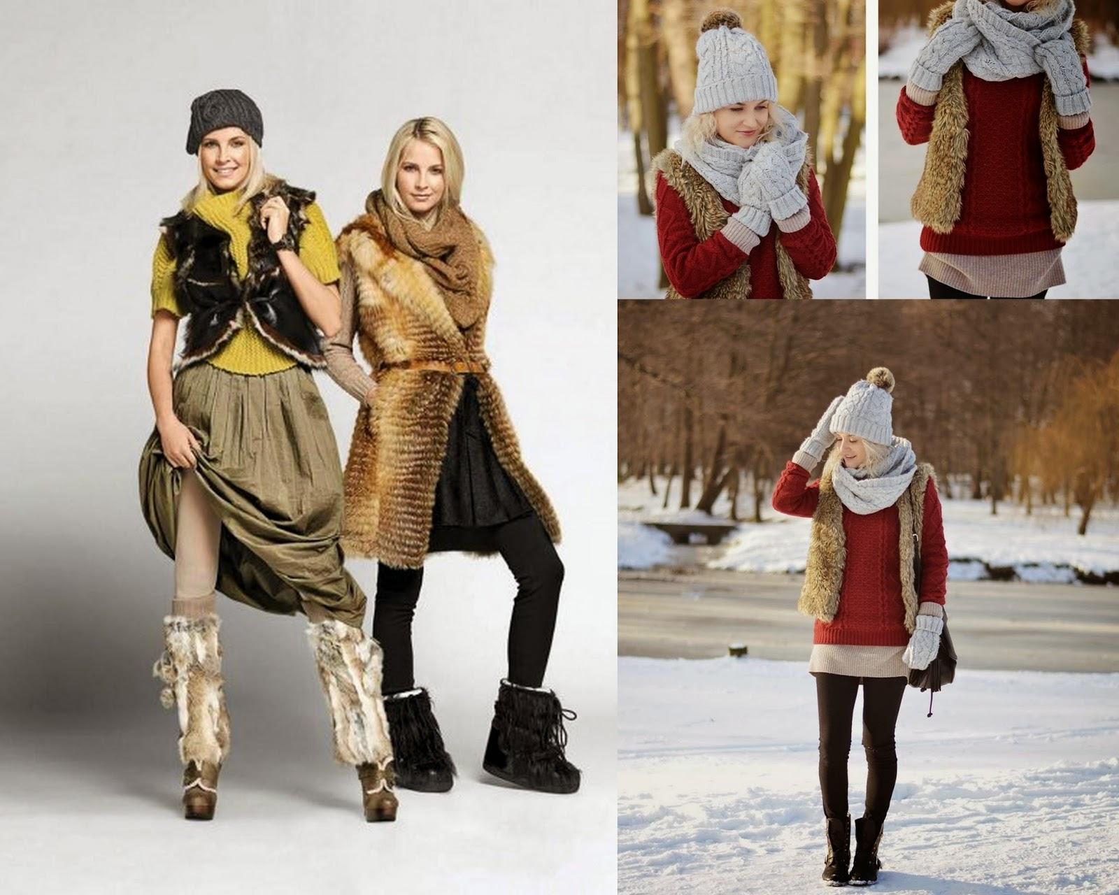 Zimowe stylizacje - FUTRO w połączeniu z dzianiną