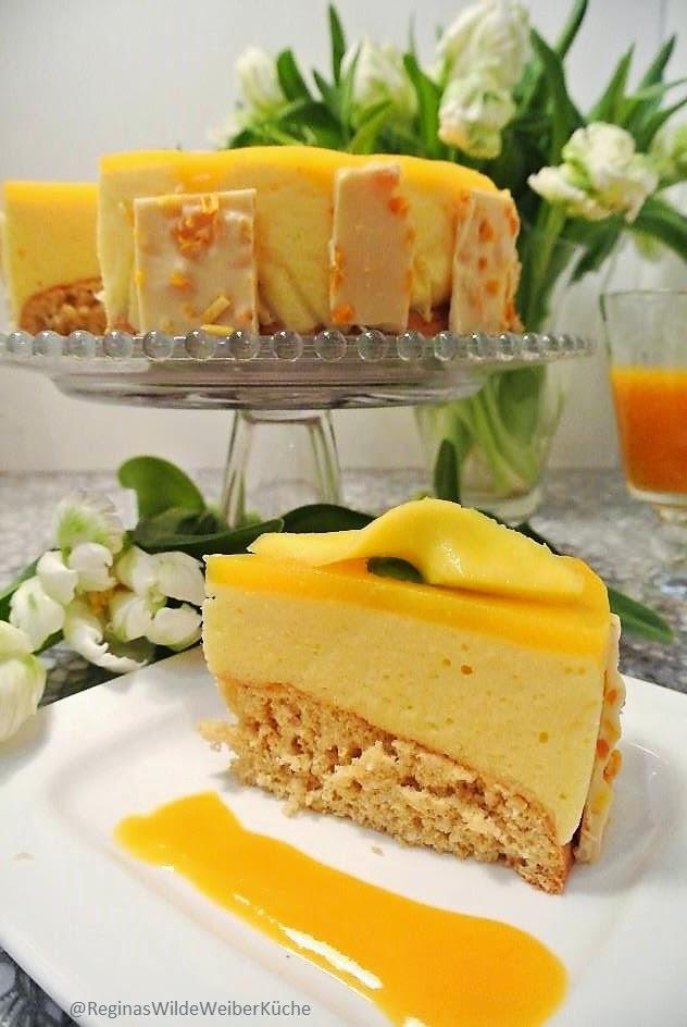 Reginas Wilde Weiber Küche: Mango-Joghurtmousse Torte mit Minze ...