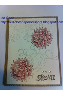 Stampin' Up! Creative elements card by Ida Chan