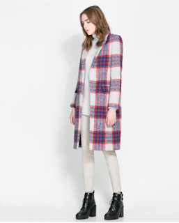 This plaid Zara coat is perfect for the holiday season.