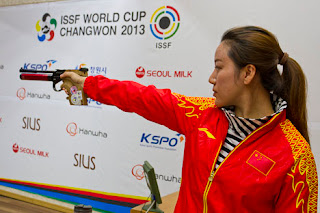 Ren Jie - China - Pistola de Ar 10m - Copa do Mundo ISSF 2013 - Tiro Esportivo