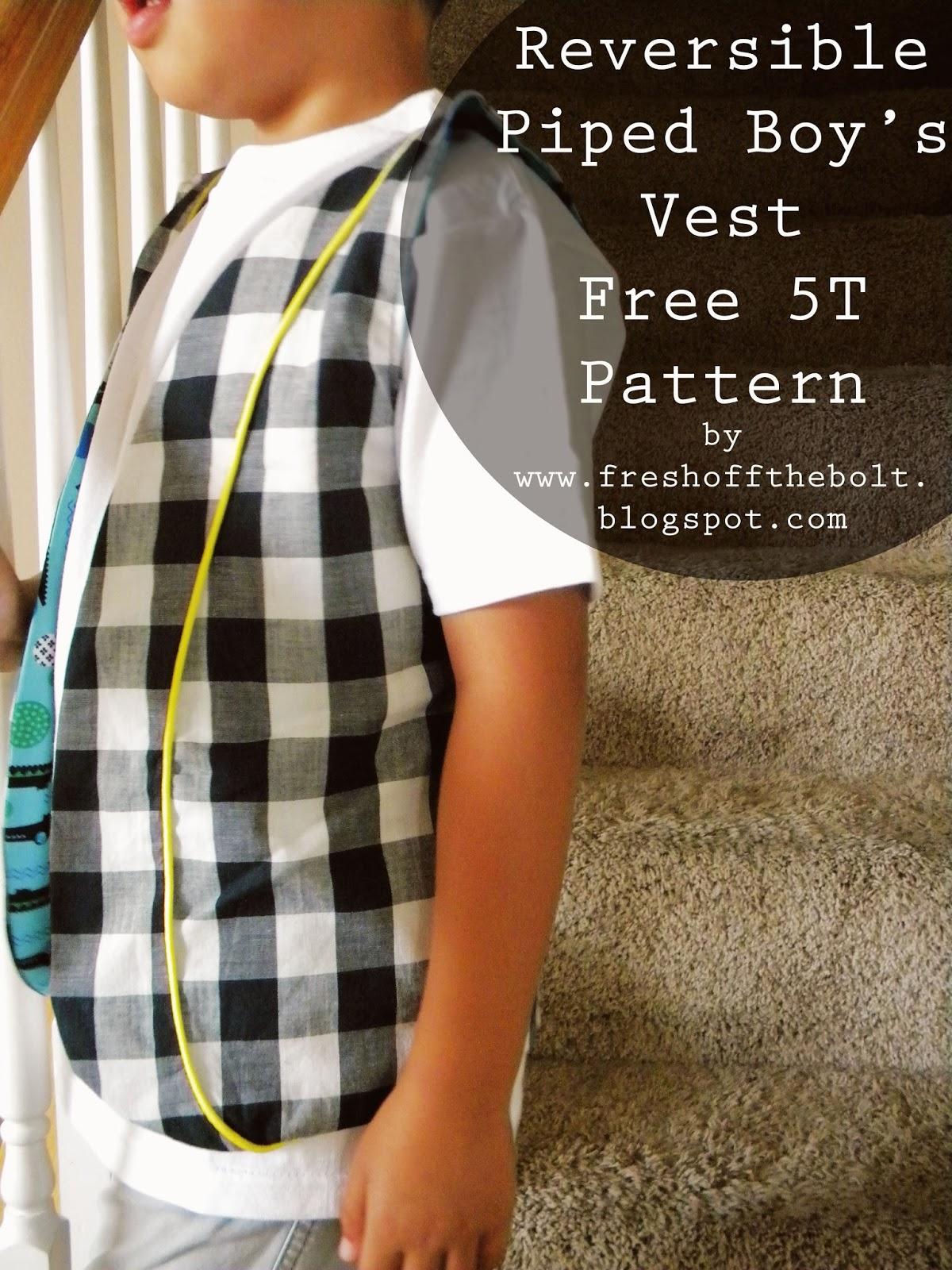 Boys Vest Pattern Cool Design Inspiration