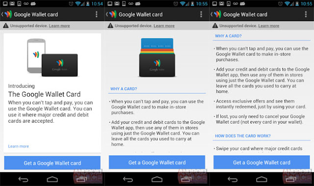 Google Wallet Card app