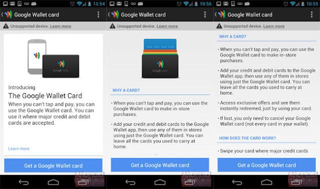 Google Wallet Card app