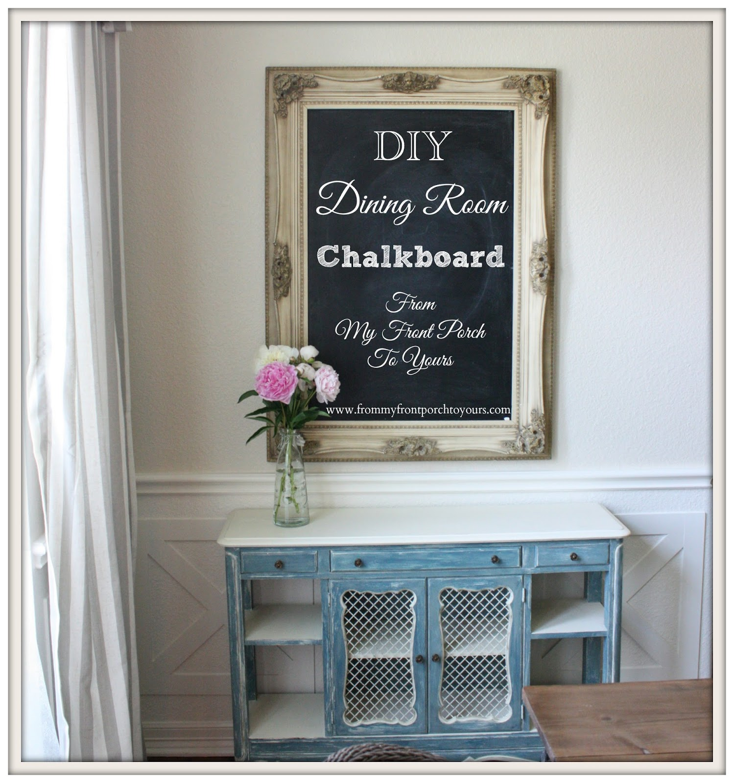 Attractive Creating A Dining Room Chalkboard