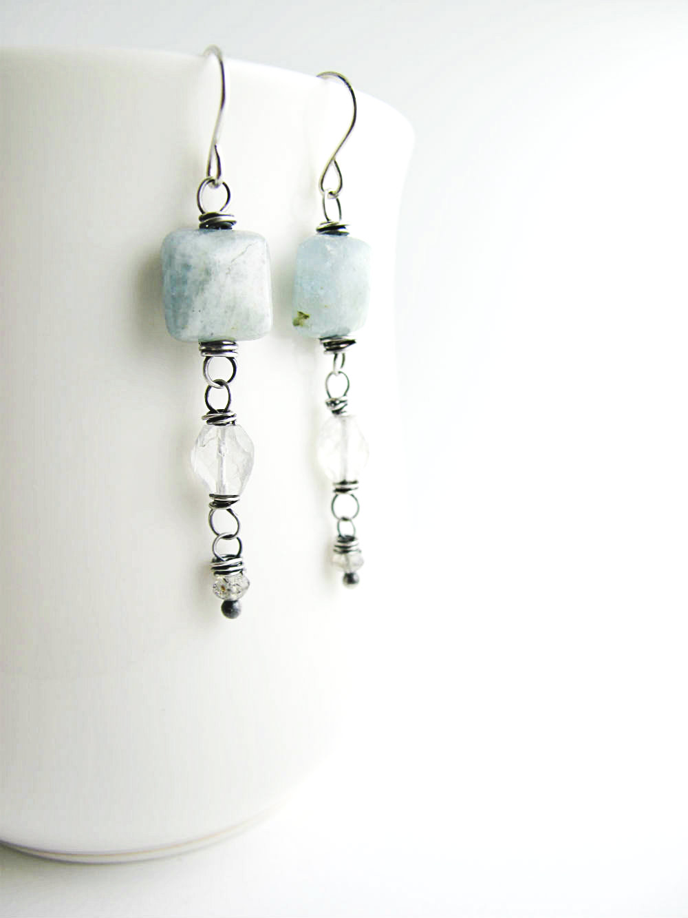 Breathless One of a Kind Earrings by Beth Hemmila of Hint Jewelry