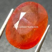 Batu Permata Orange Sapphire - 07K04