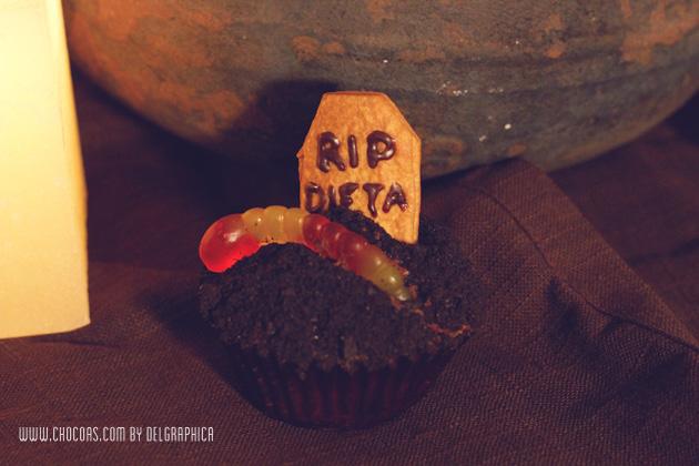 RIP dieta - cupcakes oreo - halloween