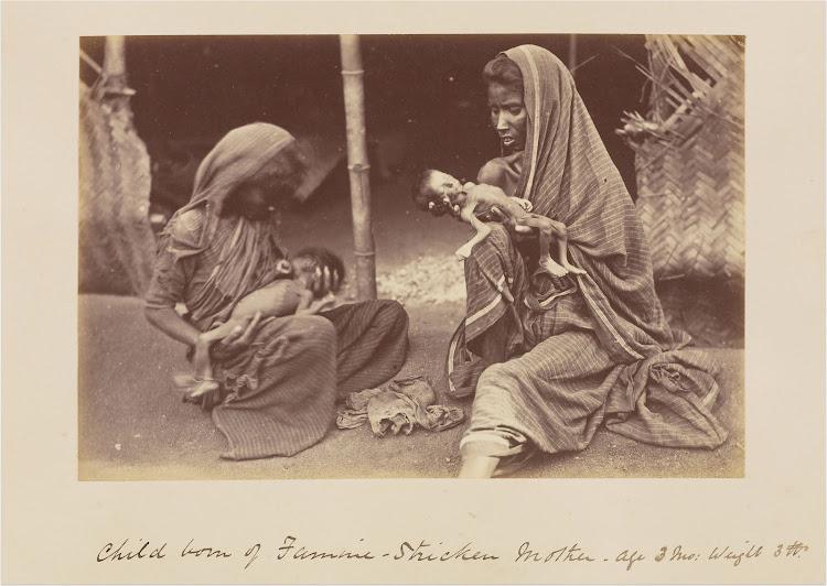 Famine Victim Mothers and Children - India c1877