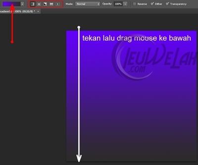 cara membuat warna gradient di photoshop