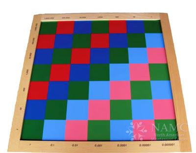 NAMC montessori math favorite lower elementary material checkerboard decimal checkerboard
