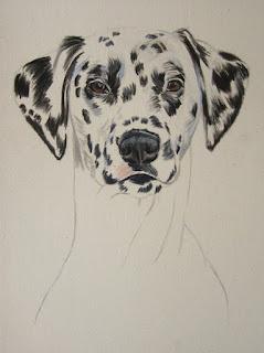 peinture dalmatien