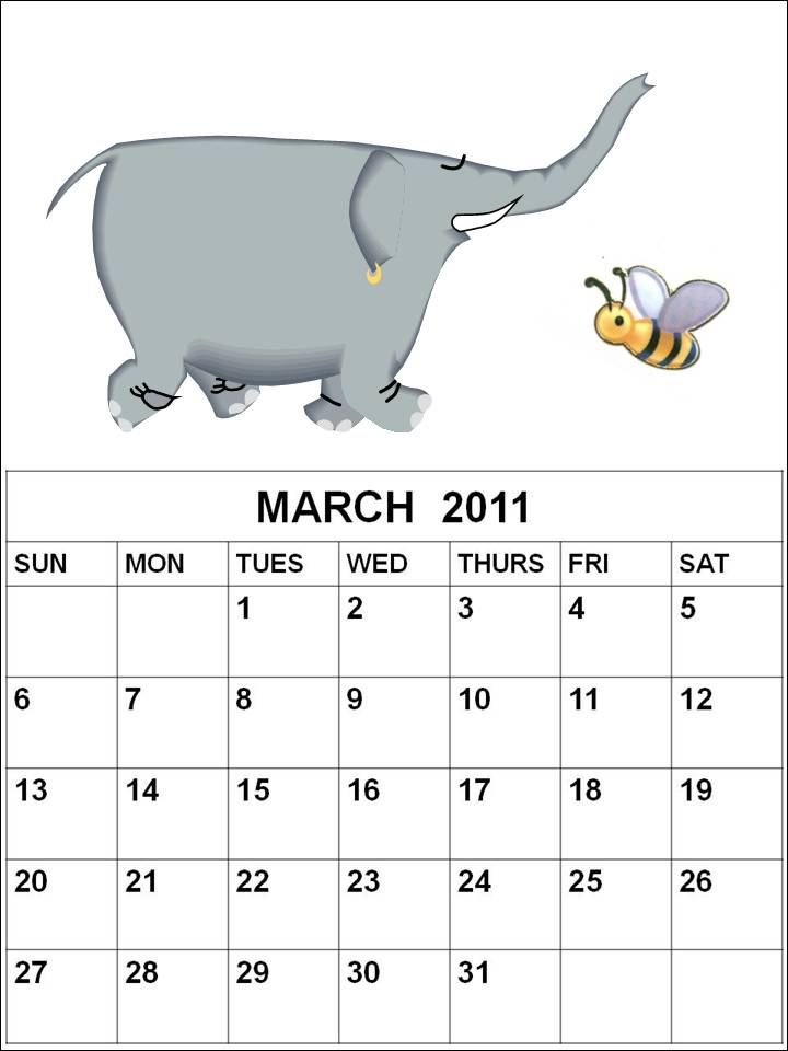 Cute March 2014 Calendar Printable Jpeg Cute March Calendar