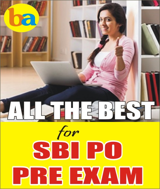 ALL THE BEST FOR SBI PRELIMS