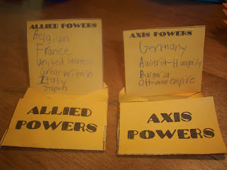 Axis and Allied Powers lapbook element