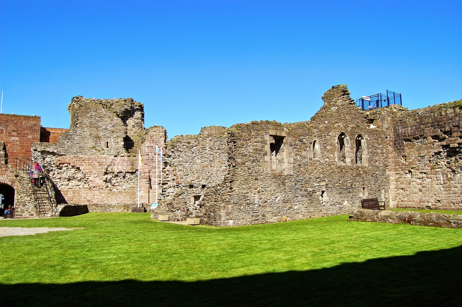 Chapel walls within Rothesay Castle
