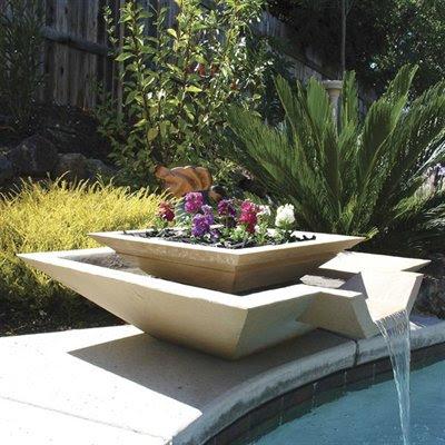 Dom nguez arquitectos paisajismo y jardines minimalistas - Fuentes de pared modernas ...