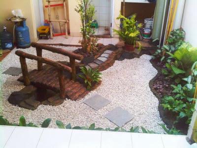 Taman Kering Desain Unik Tukang Taman Surabaya