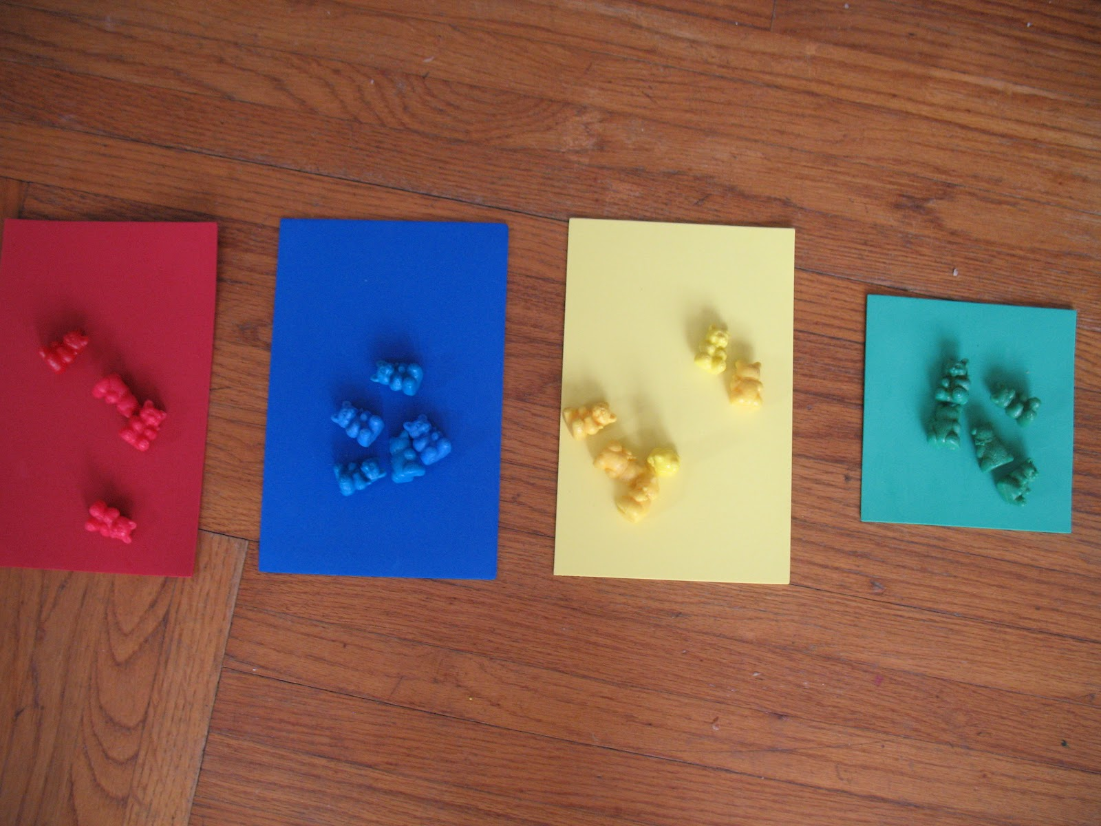 Sorting Colors with Teddy Bear Counters (Photo from We Can Do All Things)