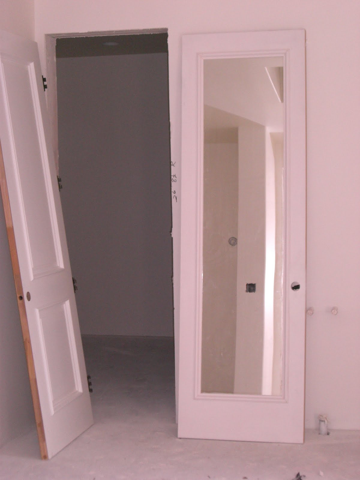 Mirrored Interior Door Shop Reliabilt 1 Lite Solid Non Bored Mirrored Glass Interior Slab Door