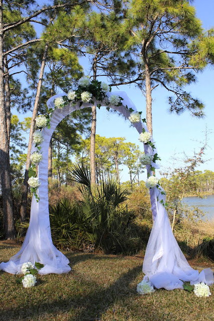Tulle wedding arch decorations ideas for Arch wedding decoration ideas