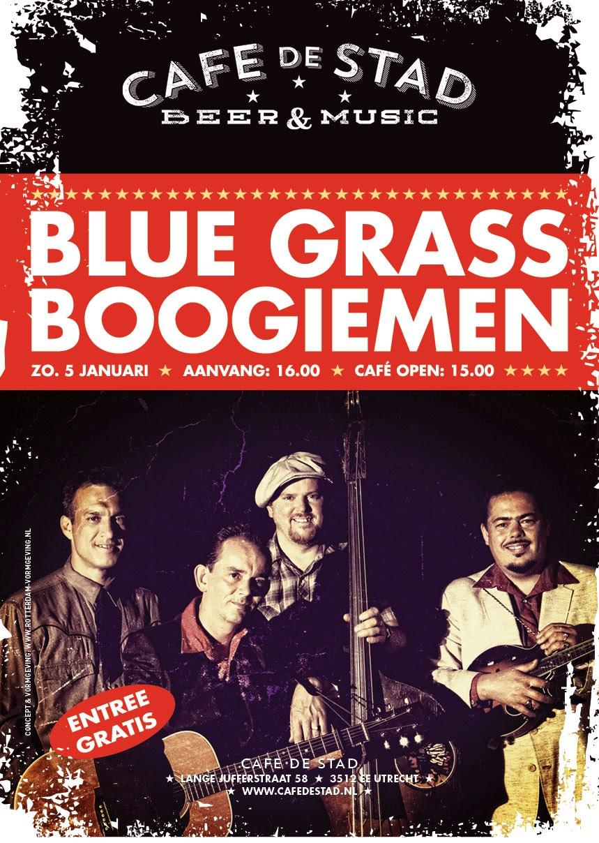 Blue Grass Boogiemen poster - Rotterdam Vormgeving
