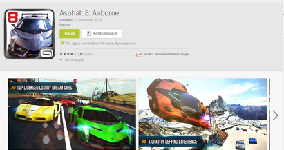 Asphalt 8 Airborne goes free in Android