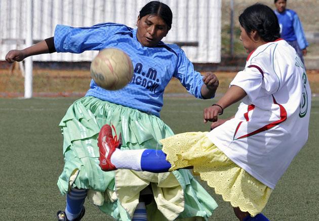 Cholitas futbolistas