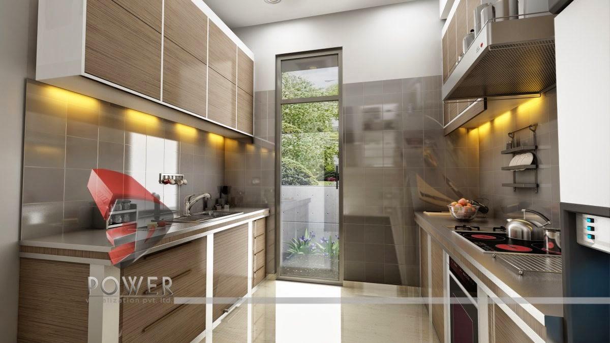 Modern Kitchen In 3D Interior