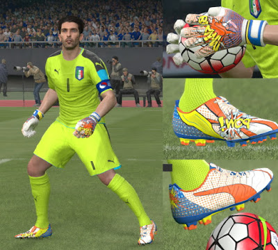 PES 2016 New POW¡ Puma pack (Boots and Gloves) by Tisera09