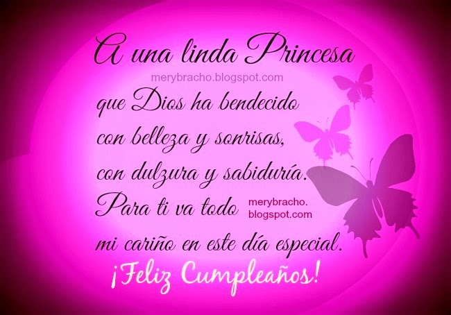Feliz Cumpleaños a una Linda Princesa | Entre Poemas y Vivencias