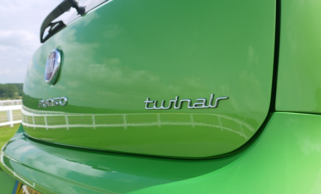 2012 Fiat Punto TwinAir boot badge