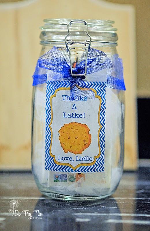 Chanukah Hanukkah Hanukah jar free printable gift idea