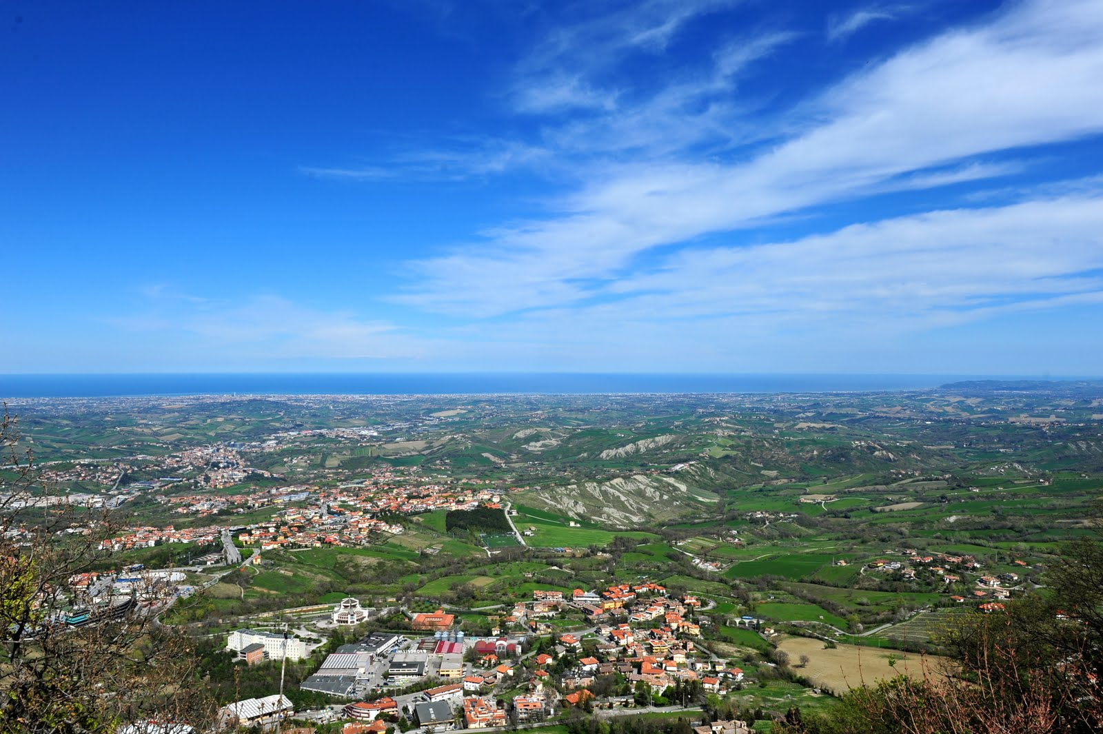 small country town from san marino town