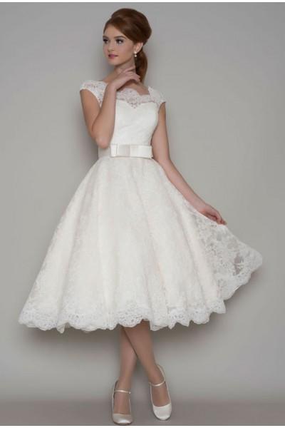 Lea 50-tals brudklänning