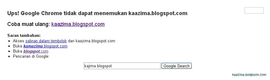 Google Chrome dan Blogger.com error?
