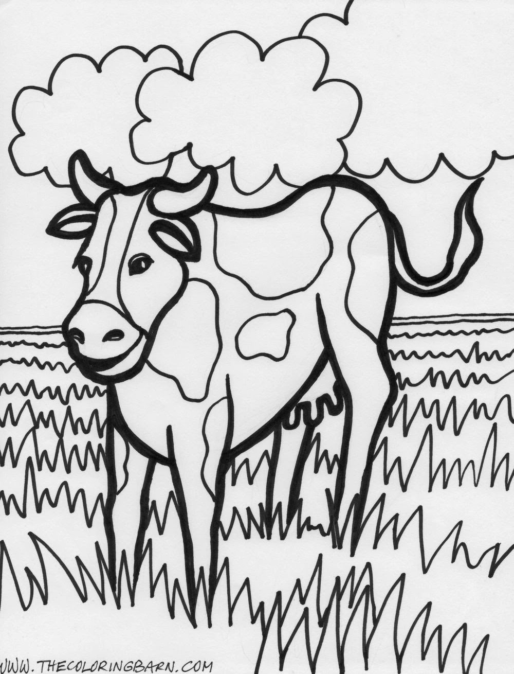 coloring pictures of farm animals