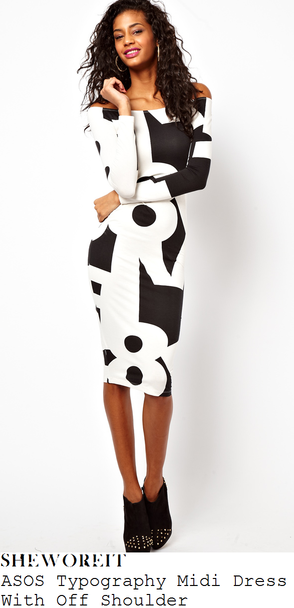 Asos black and white long dress
