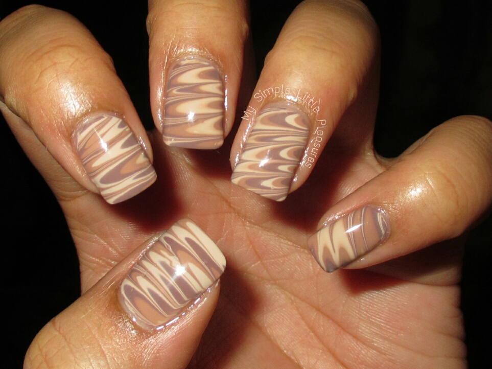My Simple Little Pleasures: NOTD: Work-Appropriate Water Marble + ...