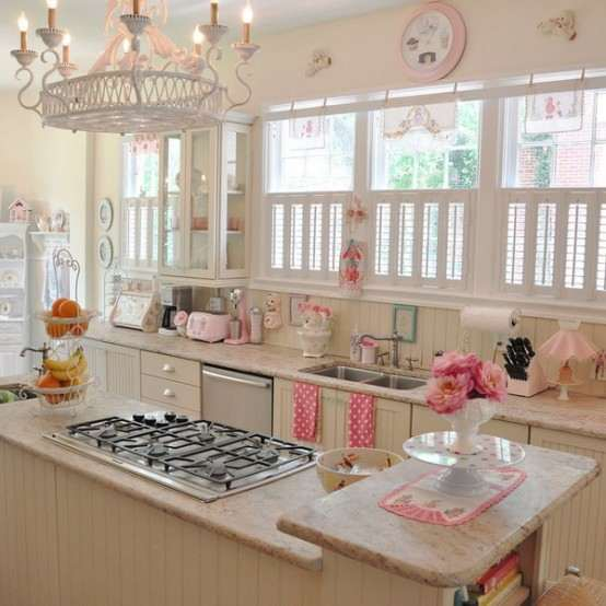 Hermoso dise o de cocina pastel ideas para decorar for Ideas decorativas home salas